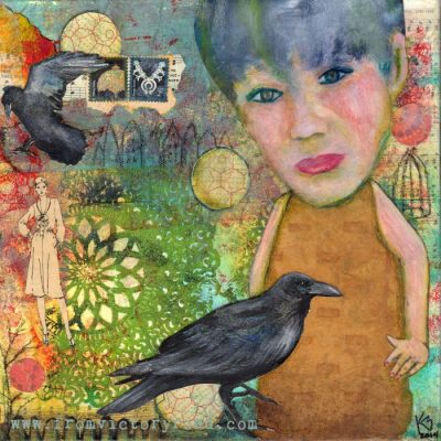 """SOLD """"Hanging with the Crows"""""""