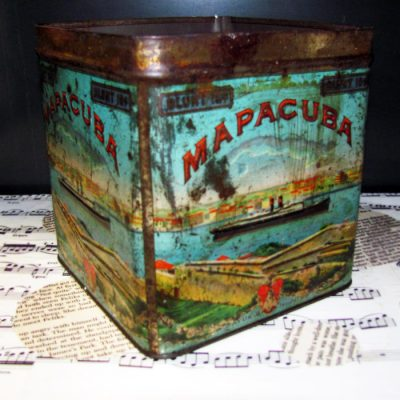 The colors of this vintage metal cigar box are the perfect addition to my studio.