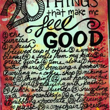 20 Things That Make Me Feel Good