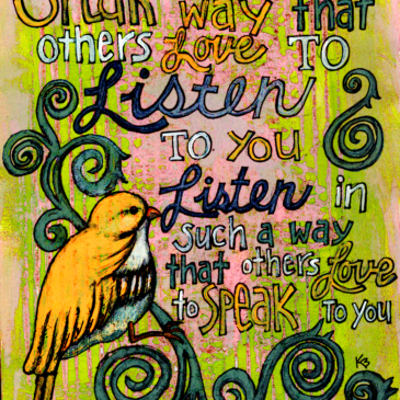 Speak so that others love to listen…