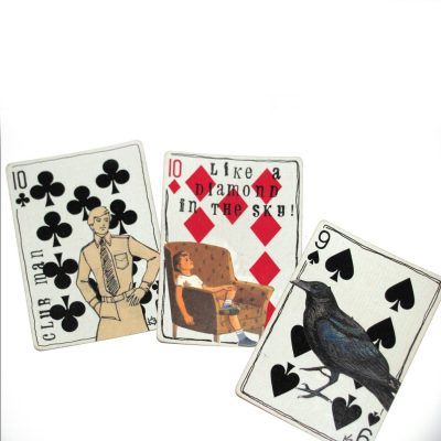 altered art playing cards