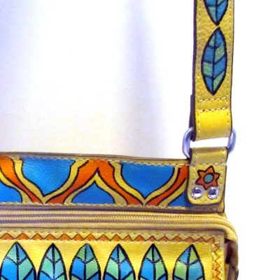 Detail on hand painted bag