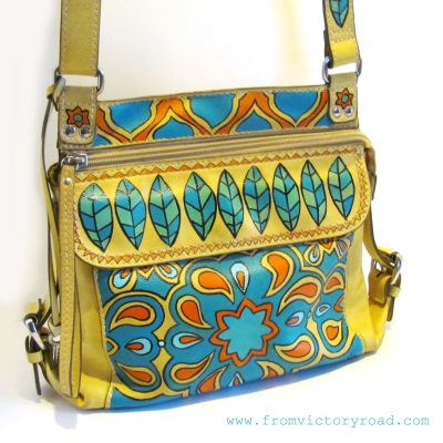 Bohemian bag from gently used Fossil purse.