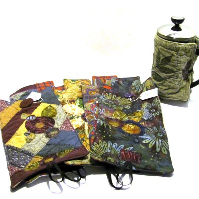 An assortment of French Press cozies