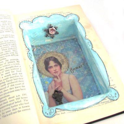 Inside a hidden stash book.