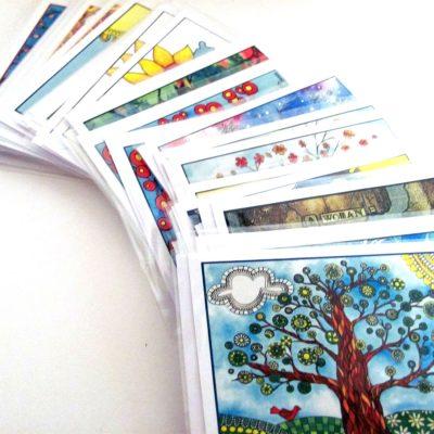 Artwork turned notecards