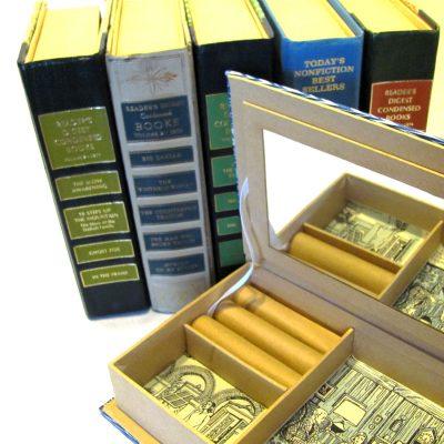Jewelry box hidden stash book.