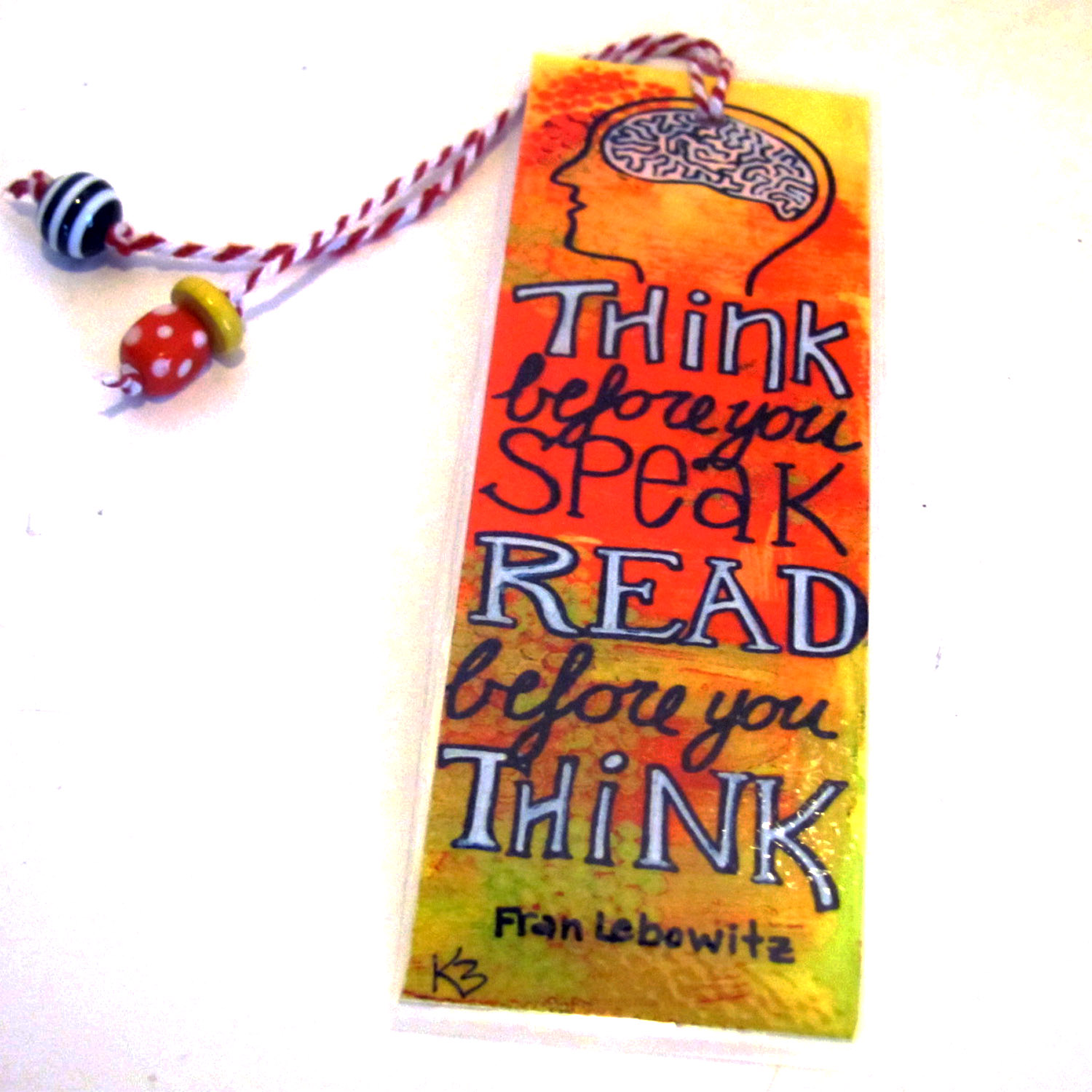Bookmark from artwork