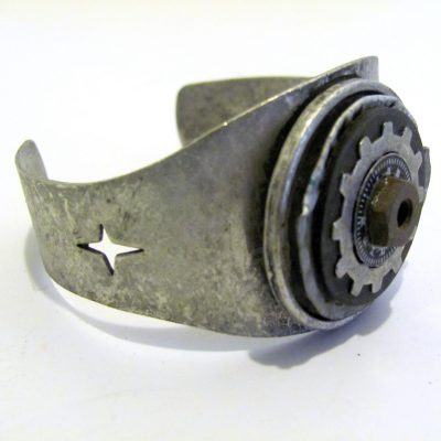 metal cuff with hardware embellishments
