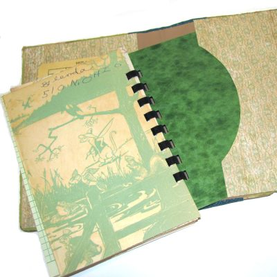 These journals can be refilled by replacing with an insert of new pages.