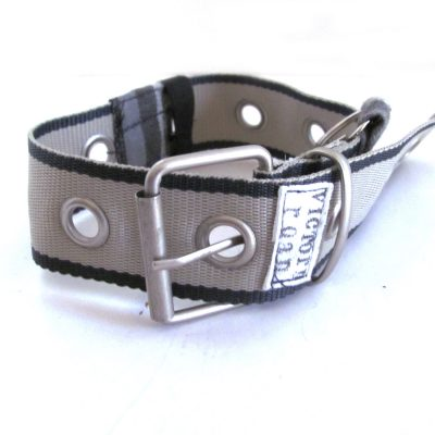 Dog collar made from repurposed materials.  As featured in GreenCraft Magazine