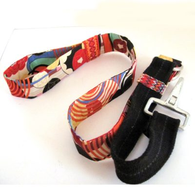 Dog leash made from repurposed materials.  As featured in GreenCraft Magazine