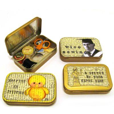Altoid tins turned sewing kits