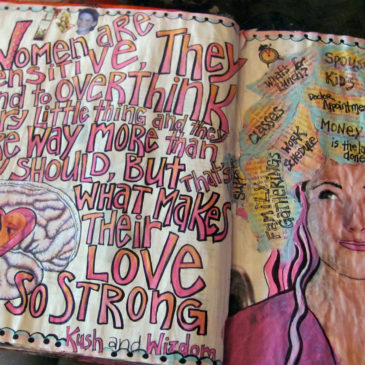 Women are Sensitive Art Journal Page