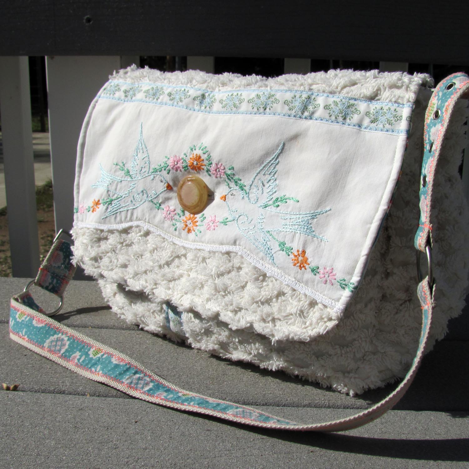 Diaper Bag From Vintage Materials From Victory Road