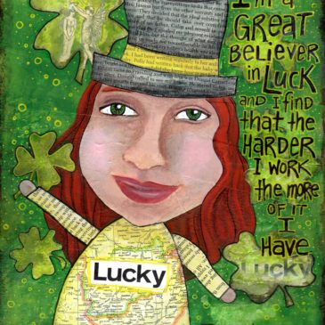 """""""Lucky"""" Jefferson in my Art Journal"""