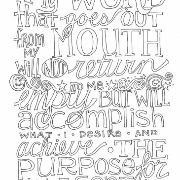 Free Word Art Coloring Page