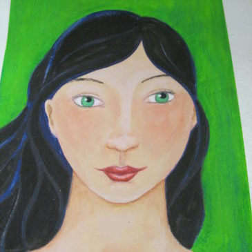 Faces for the Art Journal workshop