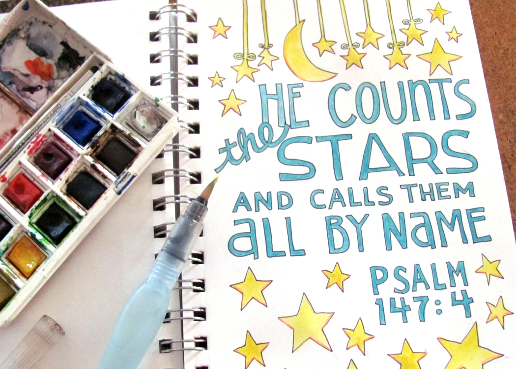 Psalm 147 4 Sunday Doodle From