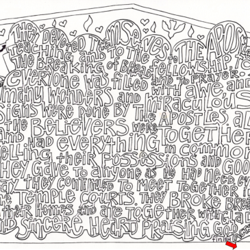 Sunday Scripture Coloring Page Maze