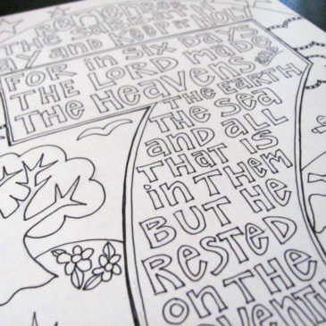 Keep the Sabbath Scripture Doodle
