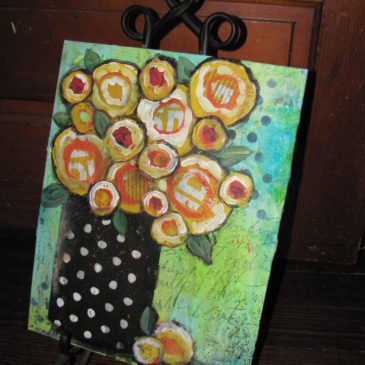 Musical Easels – an intro to mixed media