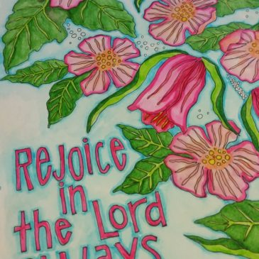 Rejoice in the Lord Sunday Doodle