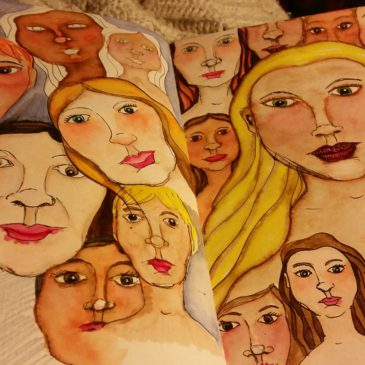 From my Art Journal… Faces!