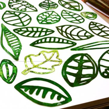 Leaves Stencil Set