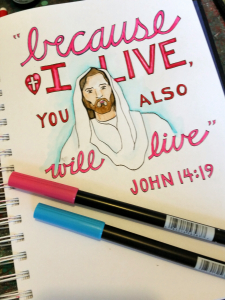 Because He Lives Coloring Page