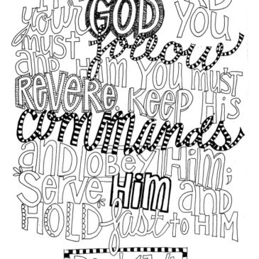 Deuteronomy 13:4 FREE coloring page