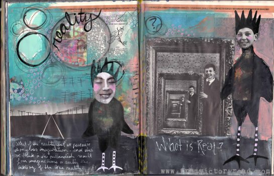 In my Art Journal… Reality