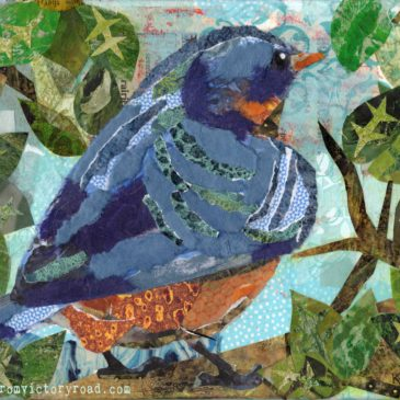 Pair of Bluebird Collages
