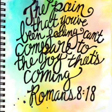 Romans 8:18 Coloring Page