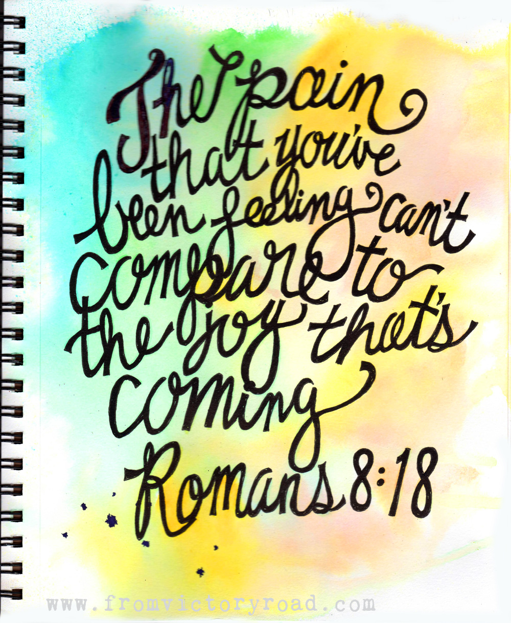 Romans 8:18 Coloring Page – From Victory Road