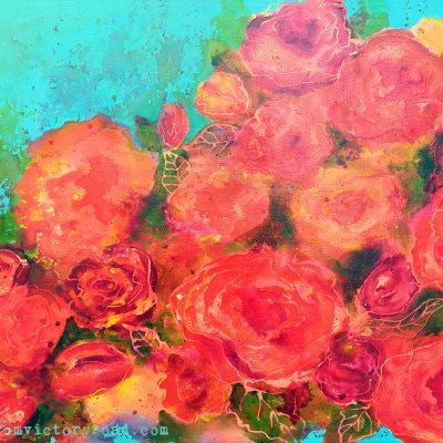 "SOLD ""Rose Garden"""