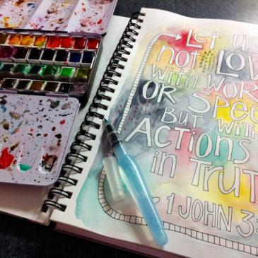 1 John 3:18 Coloring Page