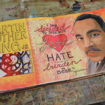 MLK Art Journal Spread