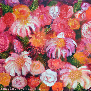 """Extravaganza"" Fingerpainted Flowers"