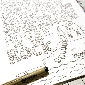 Matthew 7:24 Coloring Page