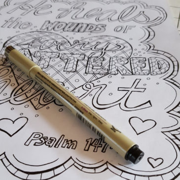 Psalm 147:3 coloring page