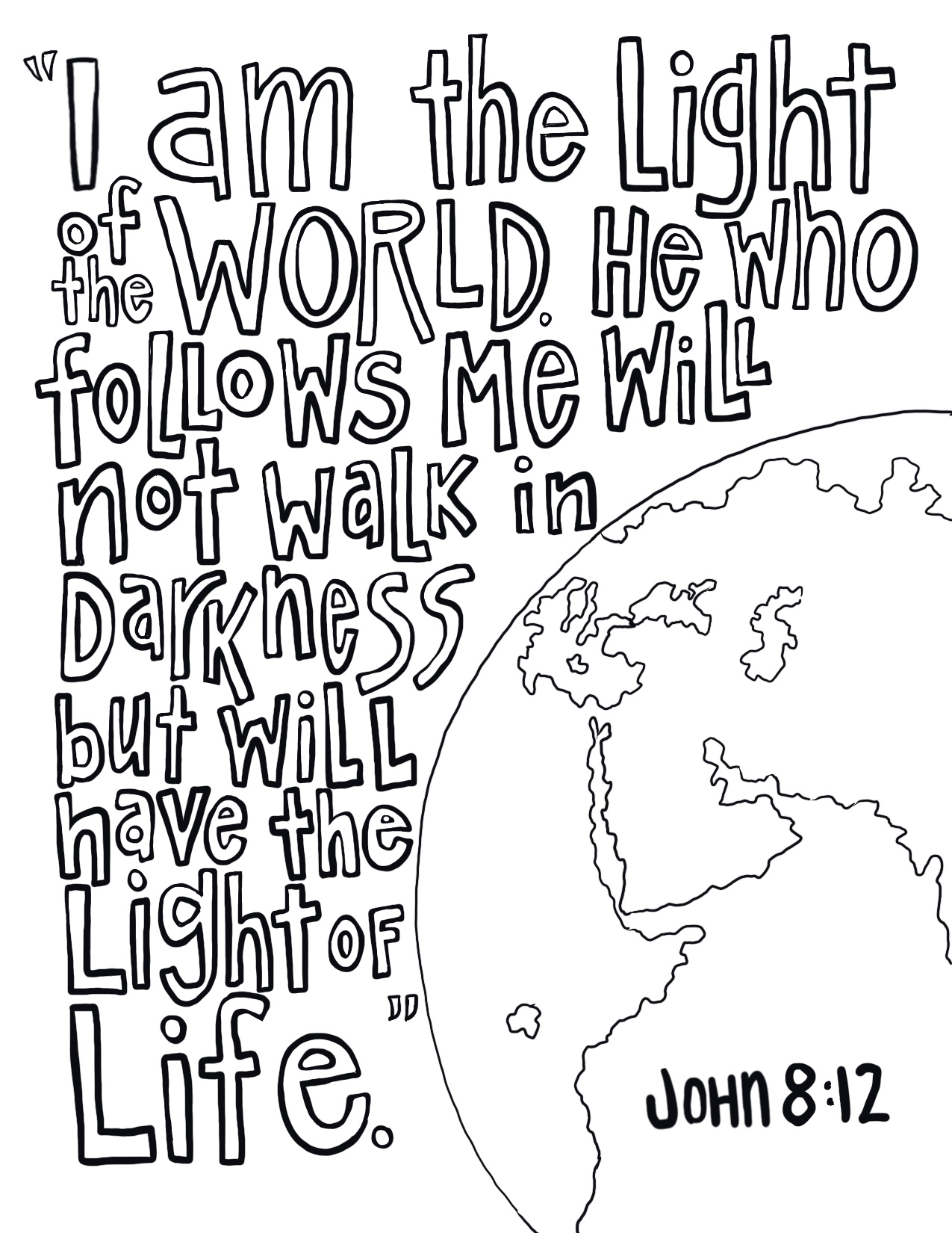 Light of the World Coloring Page From Victory Road